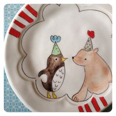 Birthday party plate