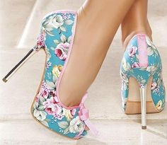 Floral + Steel Heel