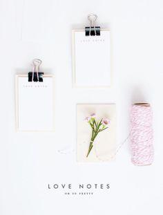 Printable Love Notes | Oh So Pretty