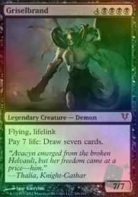 magic the gathering, griselbrand foilavacyn, foilavacyn restor, gather mtg, nmm rare, mtg griselbrand
