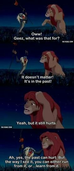 My mom defiantly instilled this in us as kids. Thanks a lot Rafiki