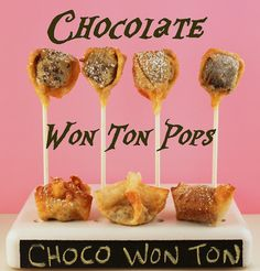 Chocolate Won Ton Pops