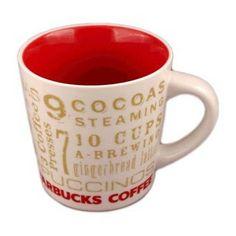 "Starbucks 12 Days of Christmas coffee mug from 2006. Love it, ""12 Eggnog Lattes, 11 Cappuccinos, etc..."" #starbucks #christmasmugs #12daysofchristmas"
