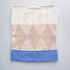 Hæklet net med harlekin   Lutter Idyl #crochet #bag #shopper