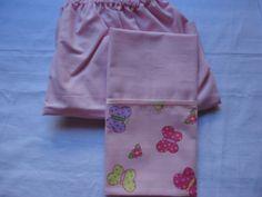 Enxoval de bebê - Jogo de lençol com elástico e fronha para mini berço