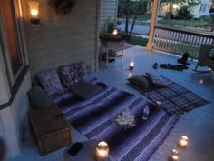 backyard date night, boyfriend, cute backyard date ideas, pinterest stuff, porch, picnic