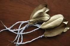 Spray-Painted Metallic Leaves   40 DIY Home Decor Ideas That Aren't Just For Christmas