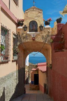 Old street in Ceuta, Spain