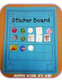 Sticker Board with 10 Frames! FREEBIE!
