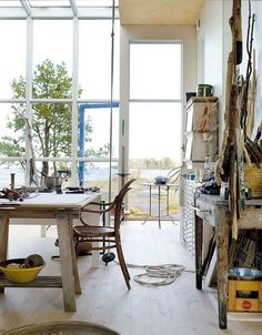 perfect art studio by the water