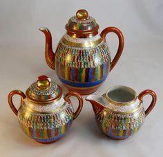 Satsuma Kutani THOUSAND FACES Japanese Teapot - Tea Set                     Satsuma Kutani THOUSAND FACES Japanese Teapot - Tea Set             Satsuma Kutani THOUSAND FACES Japanese Teapot - Tea Set