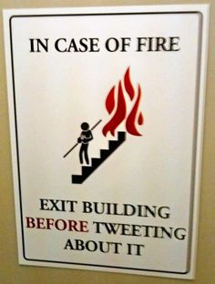 In case of fire ...