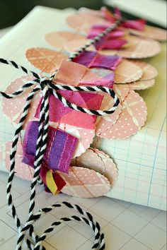 Great use of paper scraps!