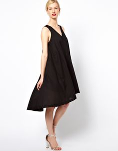 How about a flowy, flirty dress to style your bump? This one from See by Chloe is equal parts pretty and comfy!
