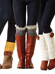 Fall is coming. Learn how to make these cute leg warmers for your boots! | upcycle project