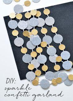 diy sparkle confetti garland