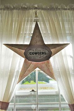 Barn Star for Western Themed Party - make stars out of paper for decor - low cost :)