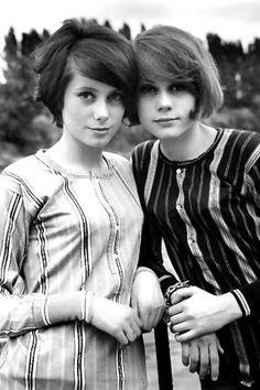 sisters catherine deneuve & francoise dorleac, 1967.