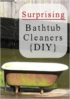 diy bathtub cleaners