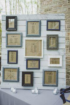 framed seating chart, photo by Jason Hales Photography http://ruffledblog.com/fernbank-museum-wedding #weddingideas #seatingchart