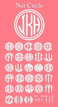 incase you would ever need to do your own monogram, here are all of the letters!