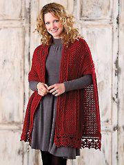 Lisdoonvarna Shawl crochet pattern download from Annie's. Order here: https://www.anniescatalog.com/detail.html?prod_id=110222&cat_id=24