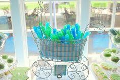 Blue & green baby shower