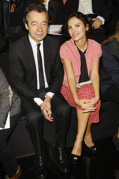 Michel Denisot & Virginie Ledoyen at Louis Vuitton Spring-Summer 2014 Fashion Show #PFW #RTW #SS14 #LouisVuitton #LV #LVMH via vogue.fr
