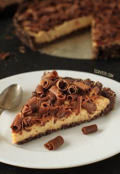 Healthier Peanut Butter Pie – tastes just as sinful as a regular peanut butter pie!
