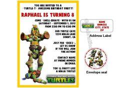 Teenage Mutant Ninja Turtles Birthday Invites by LuvCelebrationPatrol