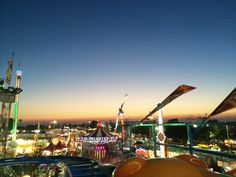 Roller Coaster at Sunset at the Orange County Fair //  www.cupcakesandcutlery.com