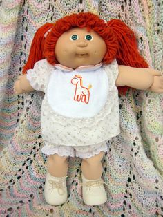 Vintage Cabbage Patch Dolls | Vintage Cabbage Patch Kid Doll - 1985. Red hair with green eyes.
