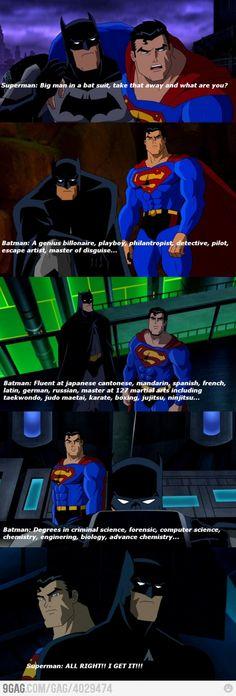 Batman always wins.....