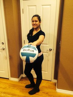 Annie palms the prize! Thank you @USA Volleyball  and @Molten USA !!!