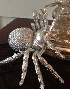 Use silver spray paint on toy