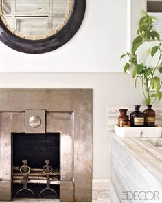 steel surround, fireplace surrounds, white bathrooms, master baths