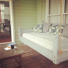 Vintage Gray Swing Bed other colors by CharlestonSwingBeds on Etsy, $700.00