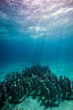 Le sculture sottomarine di Cancùn