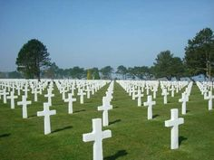American war cemetery in Normandy, France