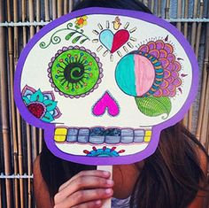 DIY Day of the Dead Mask with FREE PRINTABLE
