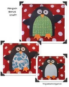 Adorable!!!!! Cutest penguin craft I've seen!