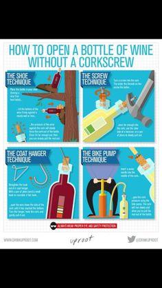 No Corkscrew?  No Problem
