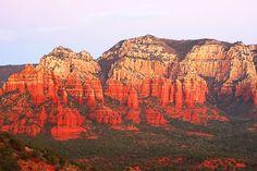 Sunset In Oak Creek Canyon In Sedona Arizona USA -