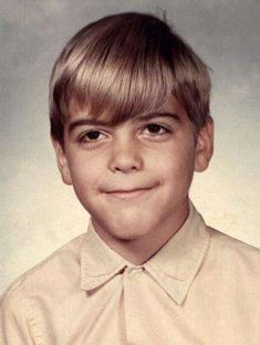 when they were young OMG -George Clooney