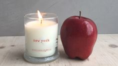 This candle is inspired by New York State's abbundance of apples.  #applepicking