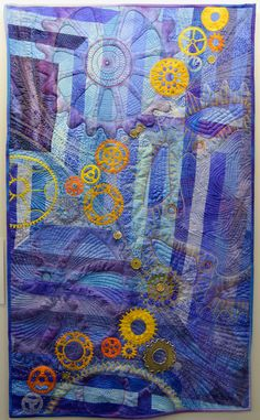 """""""Interlocked"""" by Barbara Lange, Germany.  Mary & Patch: Carrefour Européen du Patchwork, St-Marie aux Mines, France /7"""