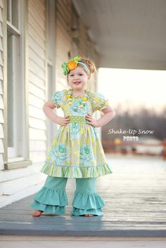 Girls Spring Dress  Rose Garden Twirl Dress  by EmmiLeeDesigns, $46.00