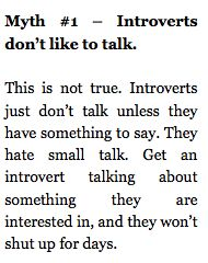 introverts & talking