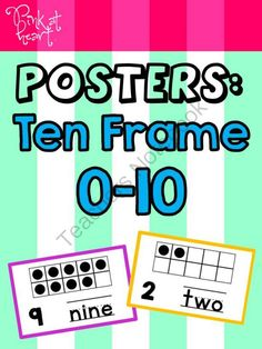 Posters: Ten Frame 0-10 from Pink at Heart on TeachersNotebook.com -  (8 pages)  - PDF - 0-10 Ten Frame Posters!
