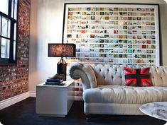 Awesome photo display! #pictures #art #home decor
